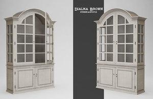 3d model wooden glass cupboard dialma