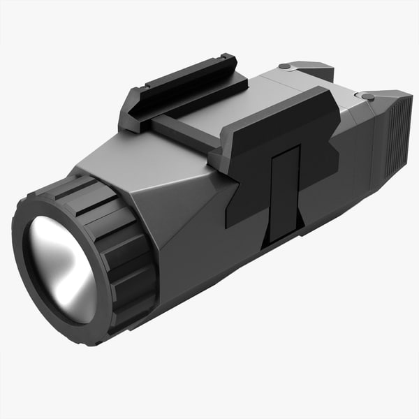 3d model inforce tactical flashlight