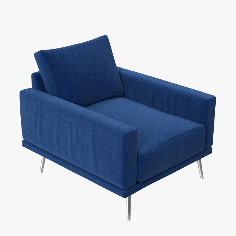 3d model boconcept carlton chair ak42