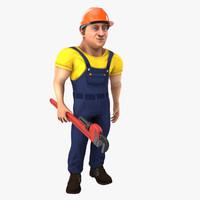man worker 3d model