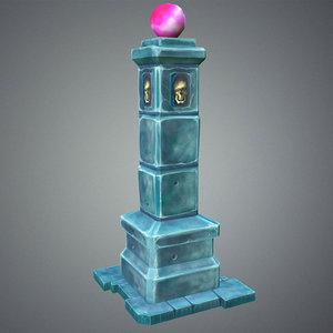 fantasy pillar dungeon 3d max