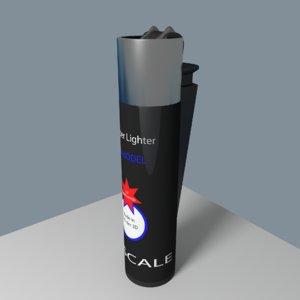 clipper lighter 3d blend