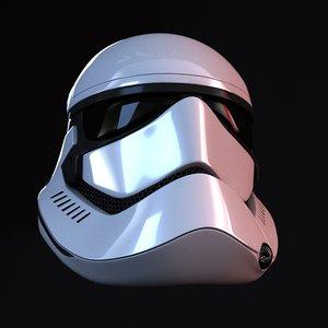 order stormtrooper helmet 3d model