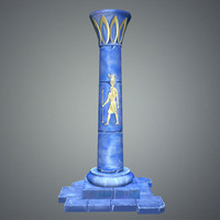 fantasy pillar egypt 3d model