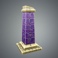 stylize pillar 3d model