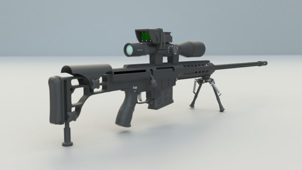 3d model barrett sniper rifle