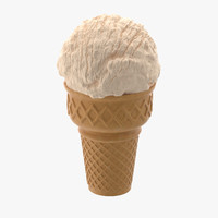 3d vanilla ice cream cone model