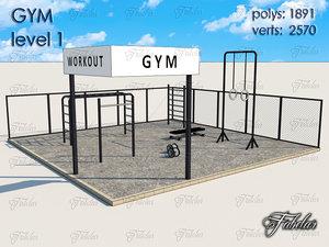3d gym level 1 model