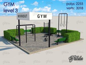 3d model gym level 3