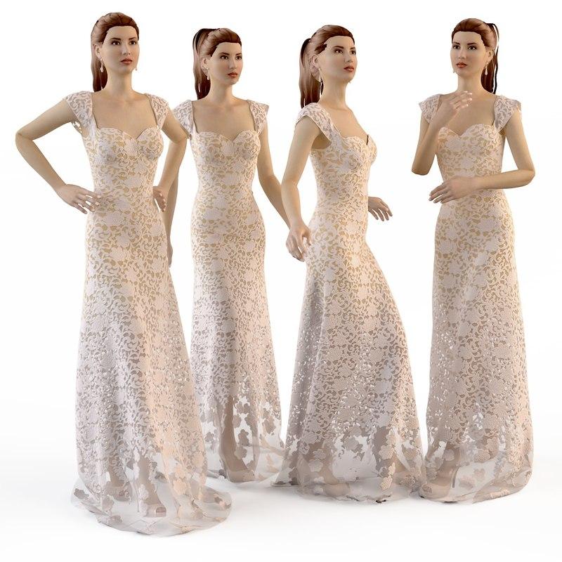 evening wedding dress max