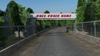 road race track 3d fbx