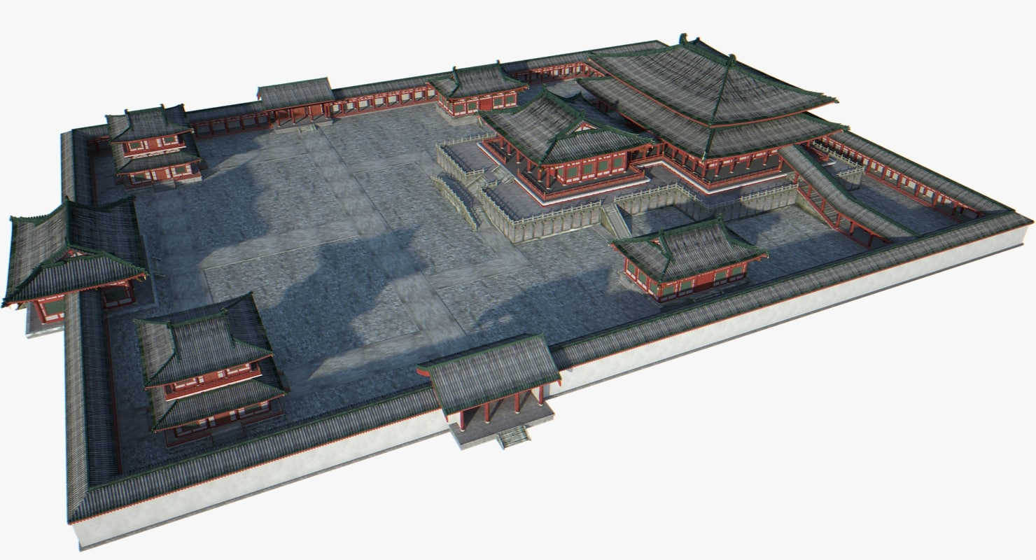 chinese architectural palace 3d model