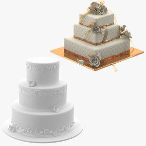 3d square wedding cakes