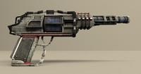 scifi handgun obj