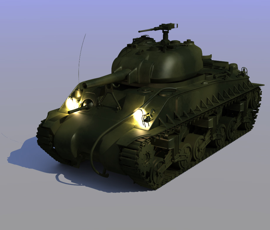 3d model of draftee m4a3