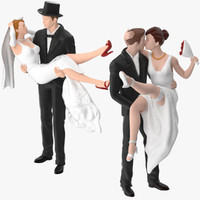 3d model bride groom miniatures