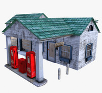 old gas station 3d 3ds