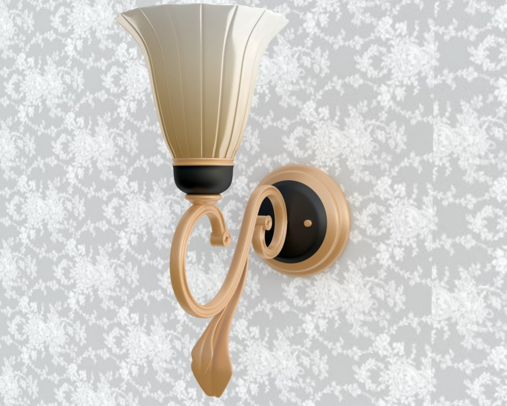 wall lamp 3d obj