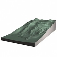 3d hillside model