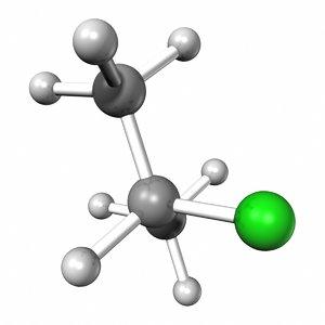 isopropyl chloride 3d model