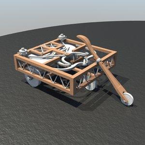 3d model leonardo da cart
