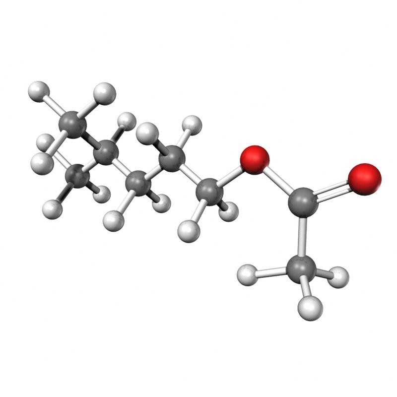 3d isohexyl acetate model