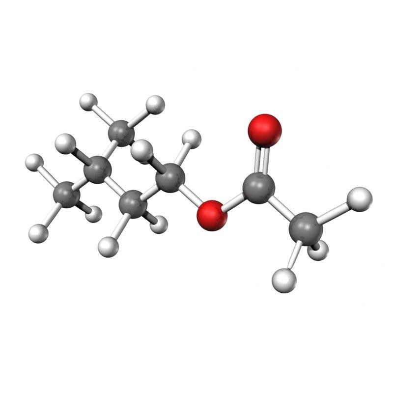 isoamyl acetate 3d model