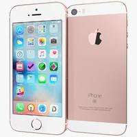 3d realistic apple iphone se
