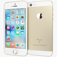 3d model realistic apple iphone se