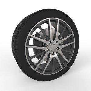 3d wheel maserati ghibli s model