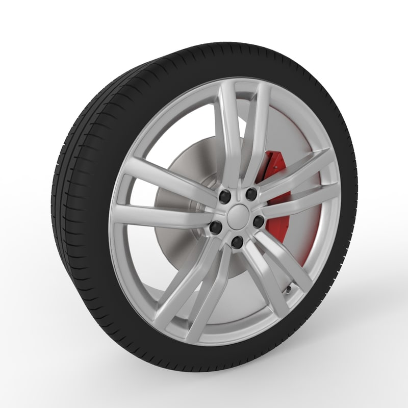 3d wheel modern car 2016