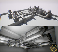ultimate air ducts modular system 60 elements 3 with animation