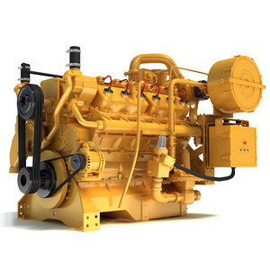 gas generator engine 3d 3ds