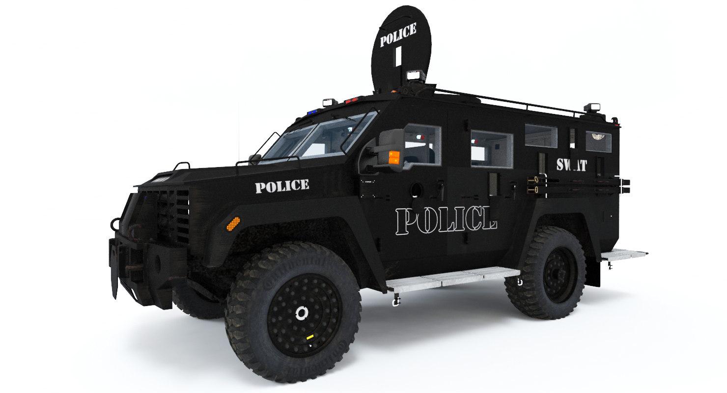 tactical swat vehicle 3d model