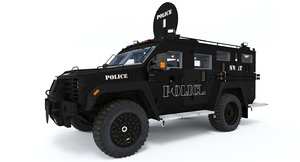 tactical swat vehicle 3d model