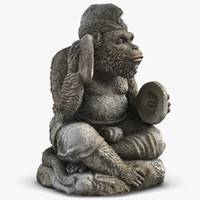 Statue Monkey with Cymbals