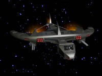 3d space craft model