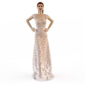 3ds evening wedding dress