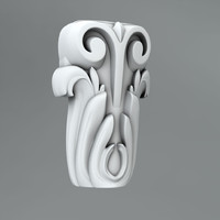 3d classical decoration ornamental model