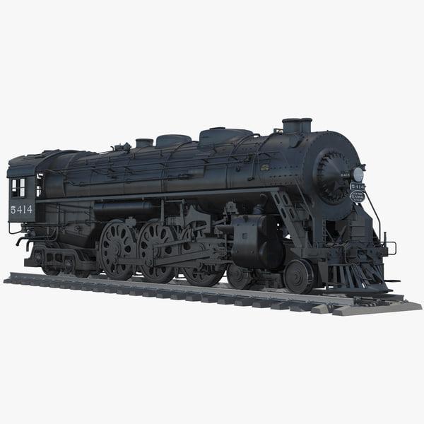 hudson j3a steam engine 3d model
