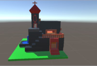 simple church 3d model