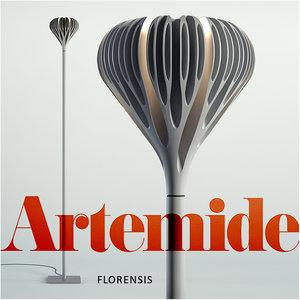 florensis floor grey 3d model