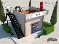 3d model gym level 6