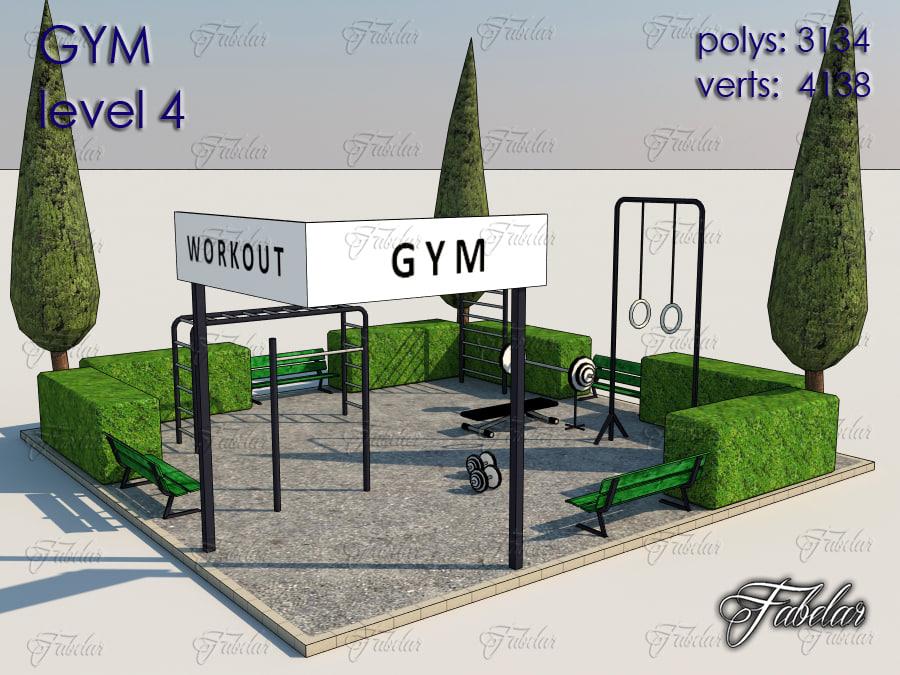 gym level 4 3ds