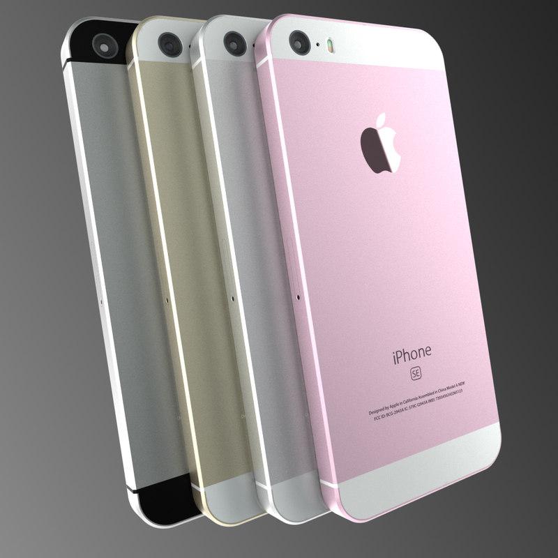 3d apple iphone 5se model