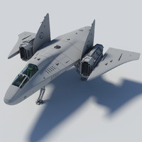 futuristic aircraft 3d model
