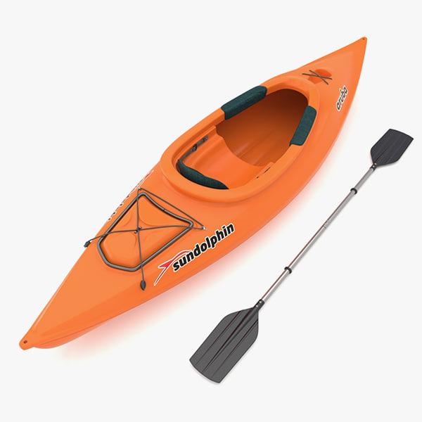 3d model boat sport paddle