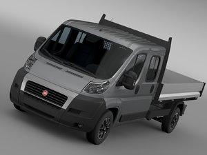 fiat ducato crew cab 3d model