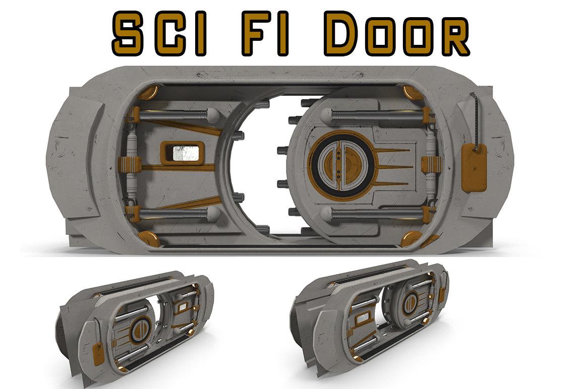 doors sci fi 3d model