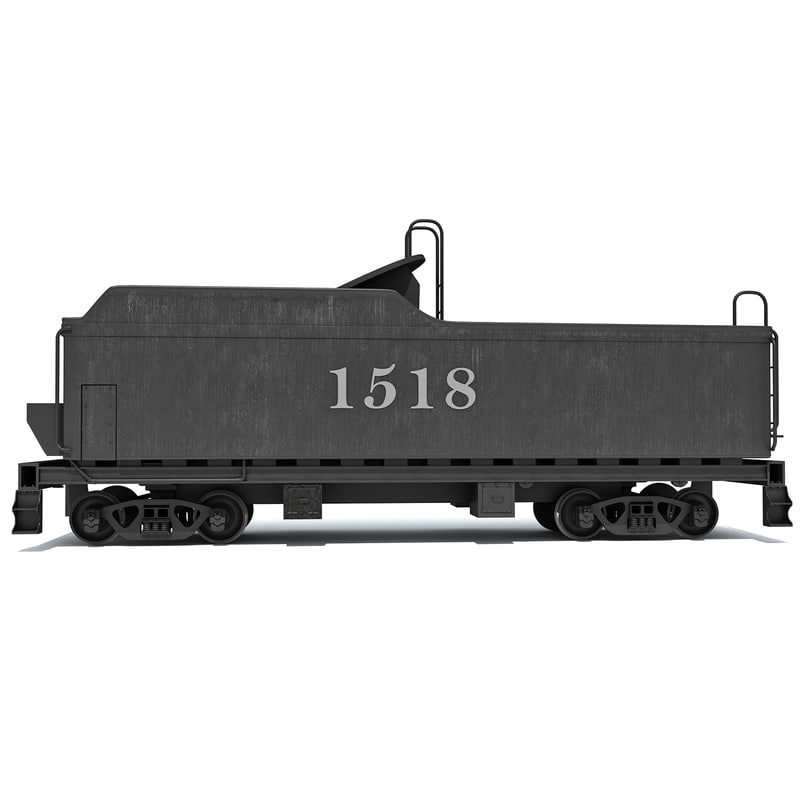 coal carrying car steam train 3d model